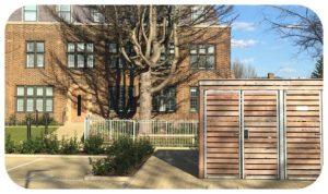 Davis Landscape Architecture MHT House Crescent Lane Clapham Lambeth Residential Landscape Architect Bin Store Icon