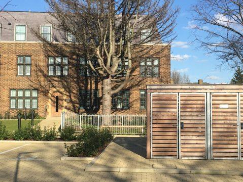 Davis Landscape Architecture MHT House Crescent Lane Residential Landscape Architect Bin Store
