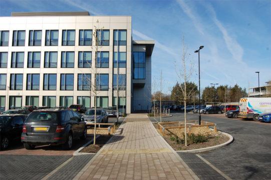 Davis Landscape Architecture Maurice Wilkes Building Cambridge Office Landscape Architect Design Public Pedestrian Entrance Route Complete