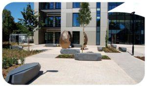 Davis Landscape Architecture Maurice Wilkes Building Cambridge Office Landscape Architect Design Sculpture Complete Icon