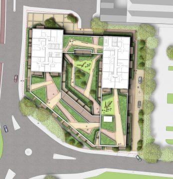 0404 Davis Landscape Architecture Former Honda Garage Southall Ealing London Residential Landscape Architect Design Detailed Planning Rendered Masterplan