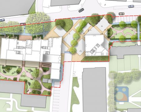 Davis Landscape Architecture Gascoigne West Barking London Residential Masterplan Landscape Architect Design Outline Planning Render Detail 2