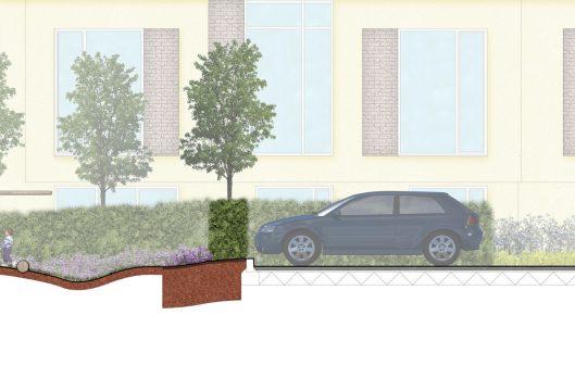 Davis Landscape Architecture Knowles House Brent London Residential Rendered Section 3b Landscape Architect Design Detail Planning