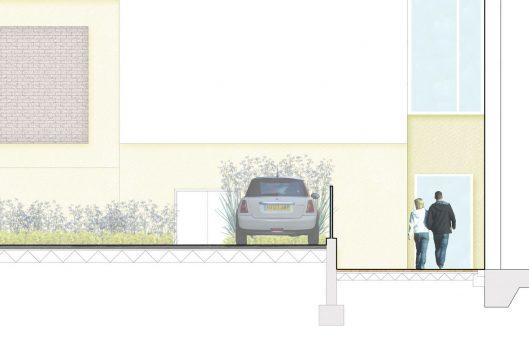 Davis Landscape Architecture Knowles House Brent London Residential Rendered Section 3c Landscape Architect Design Detail Planning