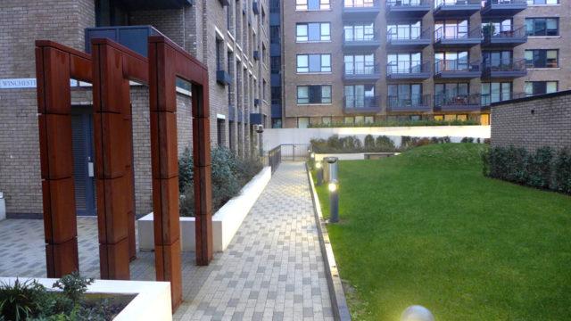 Davis Landscape Architecture Marine Wharf Bermondsey London Residential Landscape Architect Design Podium Deck Entrance Construction