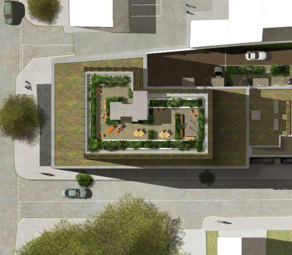 Davis Landscape Architecture Harper Road Borough Residential Podium Deck Roof Garden Landscape Architect Design Planning Construction Detail L