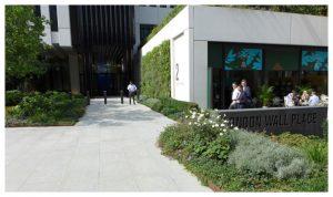 Davis Landscape Architecture London Wall Place Public Realm Landscape Architect Design Corten Steel Planter Construction Complete Icon