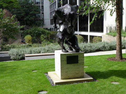 Davis Landscape Architecture London Wall Place Public Realm Landscape Architect Design Minotaur Base Construction Complete