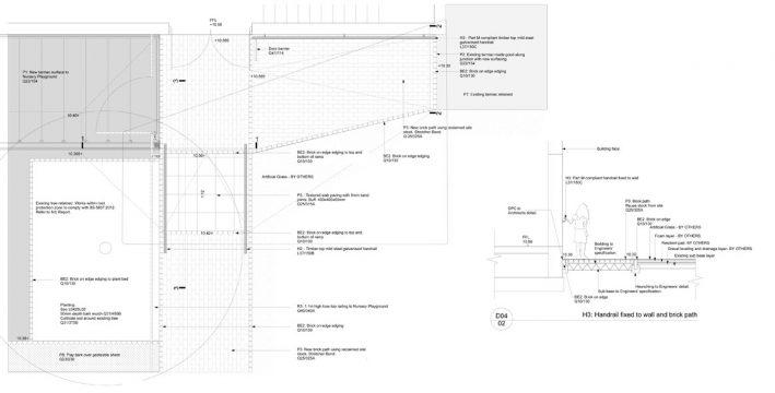 Davis Landscape Architecture Gordon Infant School Ilford Redbridge London Landscape Architect Design Technical Drawing