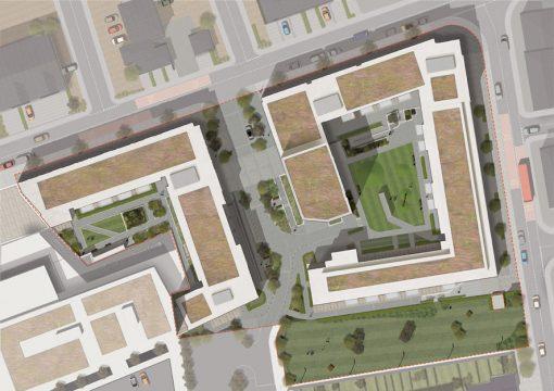 Davis Landscape Architecture Marine Wharf Bermondsey London Residential Landscape Architect Design Podium Deck Construction Render Plan
