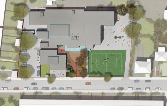 Davis Landscape Architecture Gordon Infant School Ilford Redbridge London Landscape Architect Design Rendered Masterplan Planning