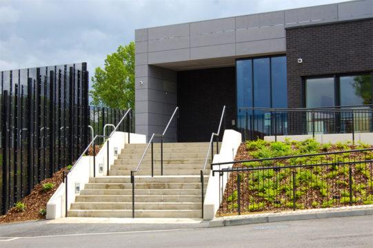 Davis Landscape Architecture Rowan House Driving Academy Colindale Barnet London Landscape Architect Commercial Design Complete Entrance Steps