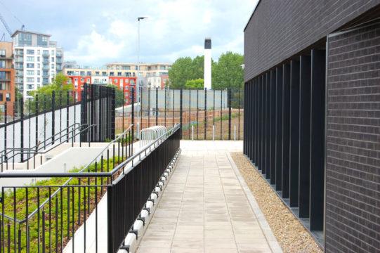 Davis Landscape Architecture Rowan House Driving Academy Colindale Barnet London Landscape Architect Commercial Design Complete Footpath