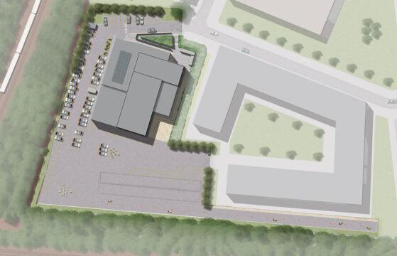 Davis Landscape Architecture Rowan House Driving Academy Colindale Barnet London Landscape Architect Commercial Design Render Plan