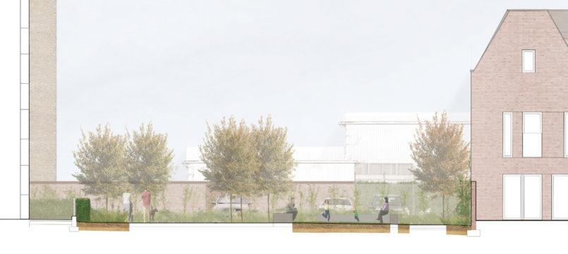 Davis Landscape Architecture Gillan Court Lewisham Render Section Residential Landscape Architect Design Play
