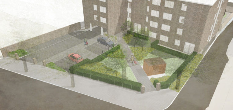 Davis Landscape Architecture Gillan Court Lewisham Render Visualisation Residential Landscape Architect Design