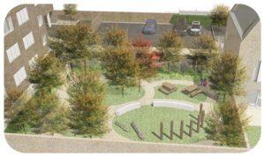 Davis Landscape Architecture Gillan Court Lewisham Render Visualisation Residential Landscape Architect Design Play Icon
