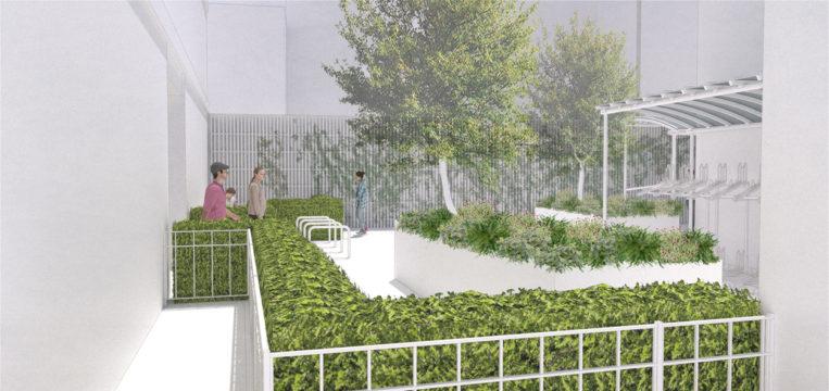 Davis Landscape Architecture Kilburn High Road Camden Render Courtyard Visualisation Residential Landscape Architect Design 1