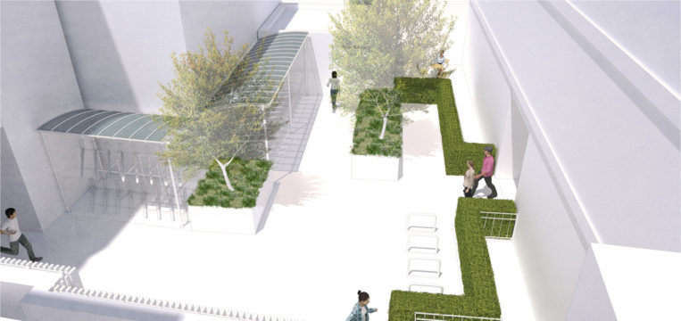 Davis Landscape Architecture Kilburn High Road Camden Render Courtyard Visualisation Residential Landscape Architect Design