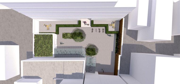 Davis Landscape Architecture Kilburn High Road Camden Render Plan Courtyard Visualisation Residential Landscape Architect Design