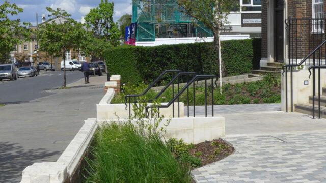 Davis Landscape Architecture Maritime House Clapham London Office Landscape Architect Design Plot Frontage