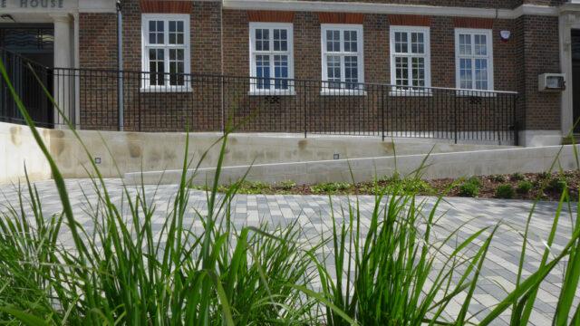 Davis Landscape Architecture Maritime House Clapham London Office Landscape Architect Design Ramped Access Elevation