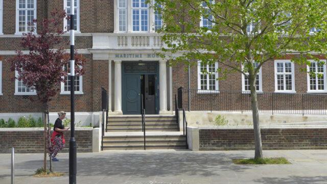 Davis Landscape Architecture Maritime House Clapham London Office Landscape Architect Design Steped Entrance Elevation