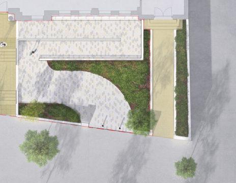 Davis Landscape Architecture Maritime House Clapham London Render Plan Office Landscape Architect Design B