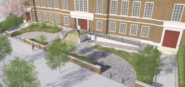 Davis Landscape Architecture Maritime House Clapham London Render Visualisation Office Landscape Architect Design