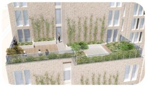 Davis Landscape Architecture New Kent Road Southwark London Render Visualisation Residential Hotel Landscape Architect Roof Garden Design Planning Icon