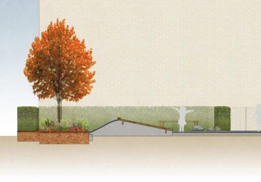 Davis Landscape Architecture Westmead Road Carshalton Sutton London Rendered section Residential Landscape Architect Design 2a