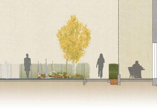 Davis Landscape Architecture Westmead Road Carshalton Sutton London Rendered section Residential Landscape Architect Design 2b