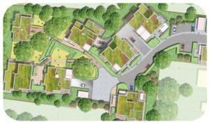 Davis Landscape Architecture Churchwood Gardens Tyson Road Lewsham London Residential Landscape Rendered Masterplan Icon