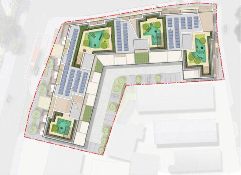 Davis Landscape Architecture Coral London Road Romford Havering London Residential Landscape Architect Roof Garden Design Rendered Plan Planning