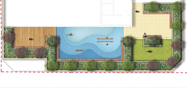 Davis Landscape Architecture High Street Sutton London Render Podium Deck Plan Residential Commercial Landscape Architect Landscape Design Podium Deck Roof Garden Planning