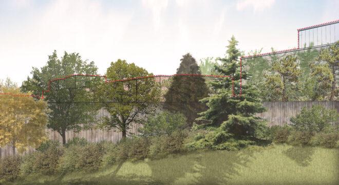 Davis Landscape Architecture Station Lane Hornchurch Havering London Residential Landscape Architect Design Rendered Building Screening Visualisation Garden Planning