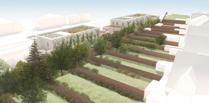 Davis Landscape Architecture Station Lane Hornchurch Havering London Residential Landscape Architect Design Rendered Visualisation Planning