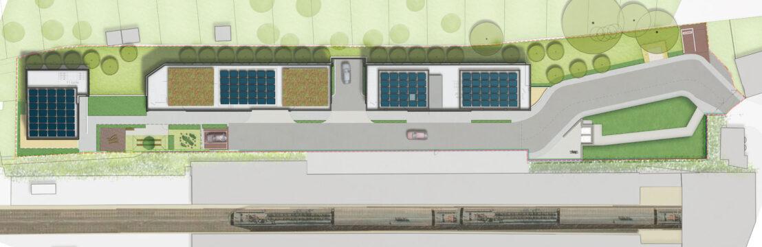 Davis Landscape Architecture Station Lane Hornchurch Havering London Residential Landscape Architect Play Design Rendered Plan Planning